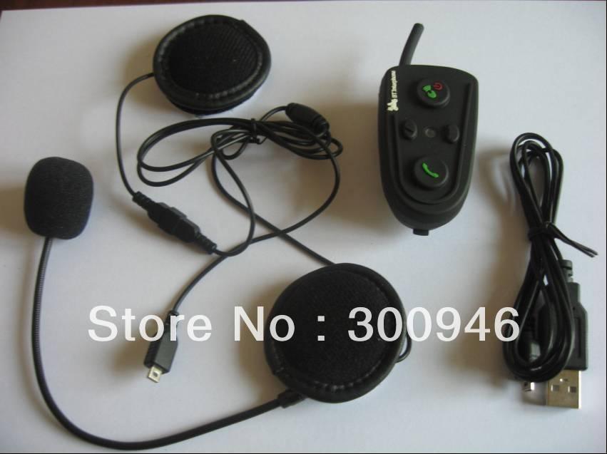 2pcs helmet intercom bt interphone 500m wireless two-way communication bluetooth motorcycle skiing helmet headset Free Shipping(China (Mainland))