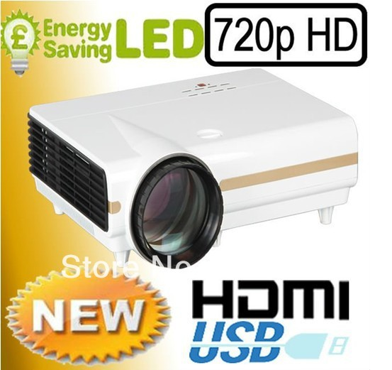 Freeshipping!! New 720P 3500lumens HD LCD LED Digital Led Projector Beamer HDMI AV in USB Speaker 1280*768 for home video X1500(China (Mainland))