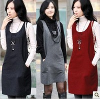 2013 autumn women's autumn cashmere sweater, plus size woolen one-piece tank dress