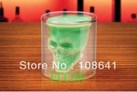 DHL FEDEX Free shipping 300 pcs Doomed Crystal Skull Shot Glass/Crystal Skull Head Vodka Shot Wine Glass Novelty Cup