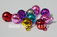 Free shipping- 6mm mixed color Small copper bell  Fit Festival & Christmas Decoration Jewelry Pendants (200pcs/lot)