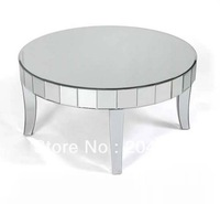 MR-401229 glass mirrored coffee table modern design
