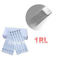 50 Pcs /box 1RL High qualtiy Disposable Sterillized Tattoo Needles Tattoo machine needles Supply Assorted Sizes free shipping