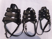 size1 2 3  genuine cowhide NEW Pet Dog Basket Cage Adjustable Muzzle free shipping