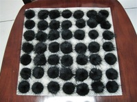 Free Shipping!! Wholesale 500pcs/lot  30mm Black Color Popular Mink Fur Bal DIY Mobile Phonel/ Hair/Earring findings