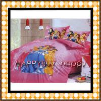 Princess Pink Three-piece Cartoon Single Bedding Set Gift Wholesale Free Shipping