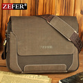 Zefer man fashionable canvas bag, male backpack shoulder car bags, leather backpack men, high quality canvas laptop briefcase
