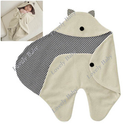 New Cute Comfortable Children Baby sleeping bag infant blankets/quilt toddler sleeping sack baby swaddling/wrap Hat Beige 6927(China (Mainland))