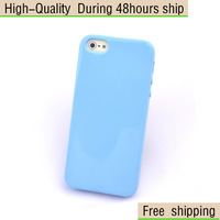 New Extra Thin Candy Stye Soft TPU Skin Cover Case For Apple iPhone 5 5G 5th Free Shipping UPS DHL HKPAM CPAM GF-88