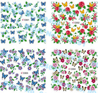 FREE SHIPPING 90 pcs / LOT, 75 Design WATER DECAL NAIL ART NAIL TATTOOS STICKER NAIL DRESSING