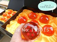 Free shipping by FEDEX Anime figure Dragon ball Z star crystal ball 7pcs/set,Big Size:7.8cm Dragon balls resin boy toys