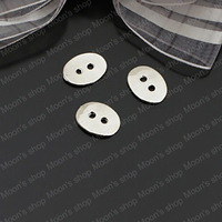 (26470)Fashion Jewelry Findings,Accessories,charm,pendant,Alloy Imitation Rhodium 14*11MM Oval buttons 30PCS