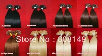 12''-30'' 100s 0.5g Pre-Bonded Nail-tip/U-tip 100% Remy Human Hair Extensions TOP QUALITY Any One Color Can Choose Free Shipping