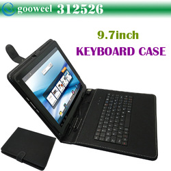 9.7inch keyboard case for tablet pc universal Freeshipping+Dropshipping(China (Mainland))