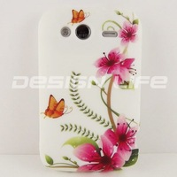 FLOWER TPU GEL SILICONE BACK CASE COVE SKIN COATING For HTC Wildfire S A510e G13 -11