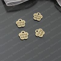 (26408)Free Shipping Wholesale Vintage Charms & Pendants Alloy Antique Bronze 8MM HANDMADE flowers 100PCS