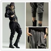 Fashion Plus Size Women Harem Pants Black,Gray Specail Design Elastic Baggy Pants ABC Clothing