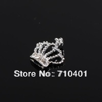 Xmas Item Free Shipping Wholesale/Nails Supply, 50pcs 3D Alloy Newest Sliver Crown DIY Acrylic Nail Design/Nail Art, Unique Gift