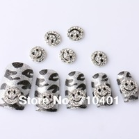 Xmas Free Shipping Wholesale/Nail Supply, 50pcs 3D Alloy Newest Smile DIY Acrylic Nail Design/Nail Art, Unique Gift Novelty Item