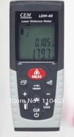 Hot-selling CEM LDM-40 laser distance meter laser rangefinder measure 0.05-40m(0.15ft -131ft )  with free shipping