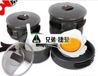 4-5 Person Cooking Pot,Camping Cookware,Outdoor Pots Sets,Non-Stick Cookware  multi-functional pot sets