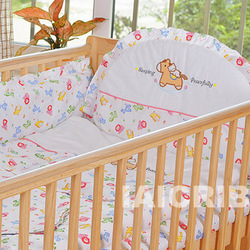 Sweetie Garden Baby Crib Nursery Bedding 13 pcs Set natural cotton free shipping(China (Mainland))