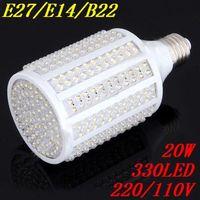 B22 E27 E14 330 PTH LED 20W Cold white warm White Corn Light Bulb 2000LM 220V/110V lamp