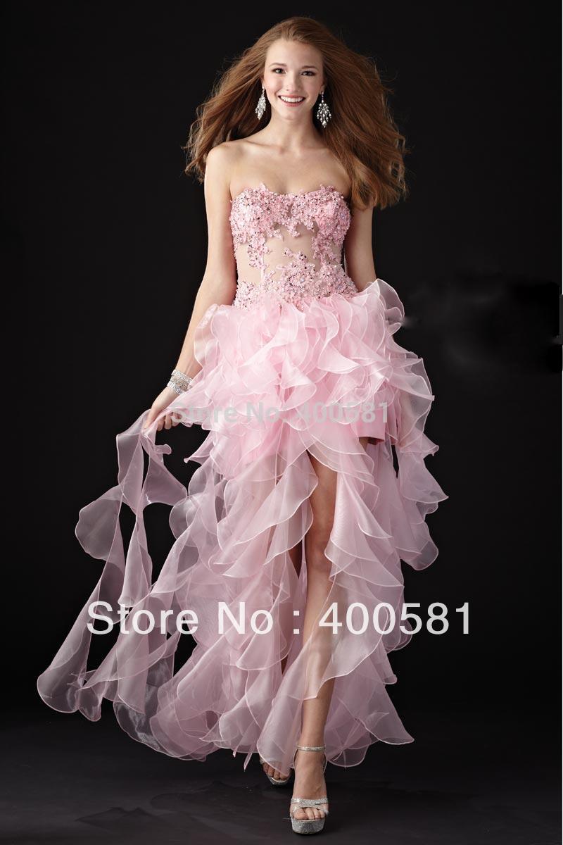 Prom Dress Ruffles Ruffled Skirt Prom