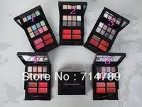 New makeup collection 8 Color Eye shadow Eyeshadow&4 Colors lipbalm /lipgloss 24.3g(5 pcs/lot)free china post air mail shipping