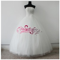 Aesthetic wedding dress pearl wedding dress wedding dress small pearl bandage fluffy wedding dress 208