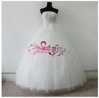 Aesthetic wedding dress pearl wedding dress wedding dress small pearl bandage fluffy wedding dress 208
