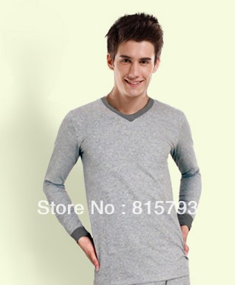 Male thermal underwear long johns long johns set modal thin foundation tshirt man(China (Mainland))