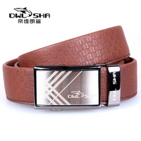 Free shipping fasion genuine leather strap male automatic buckle male strap belt hot selling men gift