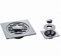 KL-803B Dual Stainless Steel Floor Drains Custom Made Item Bathroom Accessory On Sale with High Quality