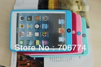 Blue Silicone Soft Skin Case Cover For Apple iPad Mini Tablet Free Shipping 10pcs/lot 9 Colors Options