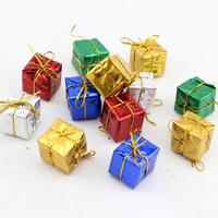 36pcs/lot Free Shipping Hot Sale Christmas Tree Decorations Gift Box Pendant Ornament m032