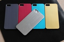 Luxury Brushed Metal Aluminum plastic Hard Case For New iPhone 5 5G 6th 100pcs/lot DHL free shipping(China (Mainland))