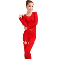 Free shipping, cotton+modal thermal underwear,seamless, long johns winter underwear     U001