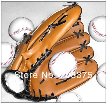 1pcs 12.5inches New Dark Brown Durable Men Softball Baseball Glove Sports Player Preferred Free Shipping