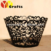 hot sell customizable disposable paper individual unique wedding favor laser cut cupcake wrappers