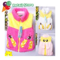 Жилет для девочек 2013 baby girl's knit vest Jacket autumn fashion coats girl's coat Colorful Woolen sweater baby crochet outwear kid spring coat