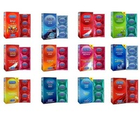 120 condoms/lot in one box DUREX 14 KINDS Condoms and extra lubricated condom Free shipping