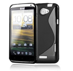 Free Shipping S Line Back TPU Gel Skin Cover Case for HTC One X(China (Mainland))