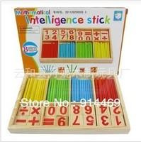 Christmas gift wooden toy digital board games bar blocks wholesale digital rod building blocks  toy bricks