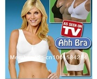 Big discount Free shipping Sexy Bra Slimming Ahh Bra As seen on TV Seamless Leisure Genie Bra (black white beige)