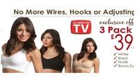 Big discount Free shipping 120pcs/lot(40set black white beige) Sexy Seamless Rhonda Shear Ahh bra Leisure