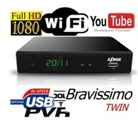 AZBOX BRAVISSIMO Twin tuner decoder with SKS For N3