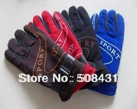 free shipping Male Cycling gloves winter ride slip-resistant thermal sports gloves for men mixing colors