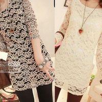 FREE SHIPPING/2013 fashion one-piece dress autumn new arrival long-sleeve basic skirt lace autumn slim hip skirt,D-613