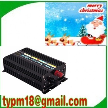 1000W Watts Peak Real 1000W 1000 Watts Power Inverter 12V DC to 220V AC 1000w sine wave + Free shipping